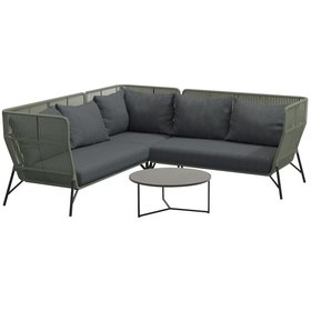 4 Seasons Outdoor 4 Seasons Outdoor Altoro modulair hoek loungeset 4-delig rope
