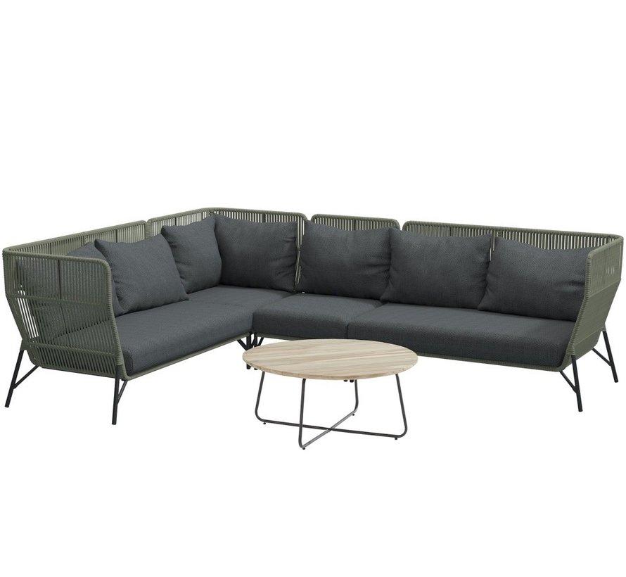 4 Seasons Outdoor Altoro modulair hoek loungeset 5-delig rope