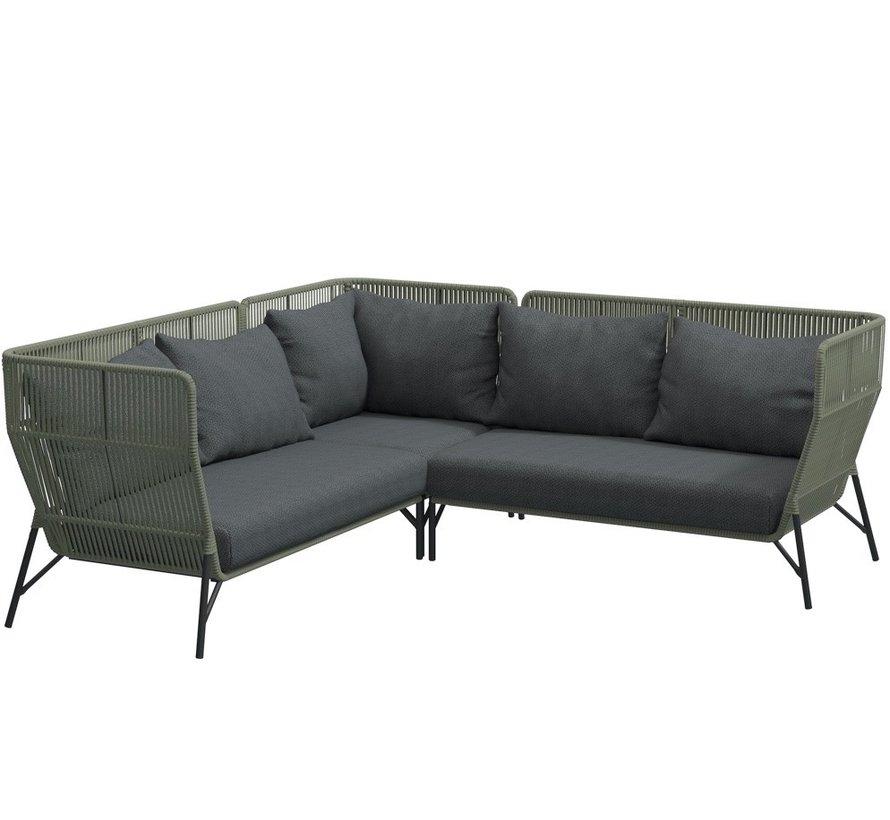 4 Seasons Outdoor Altoro modulair hoek loungeset 3-delig rope