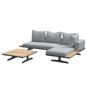 4 Seasons Outdoor 4 Seasons Outdoor Endless multi concept chaise longue loungeset 3-delig