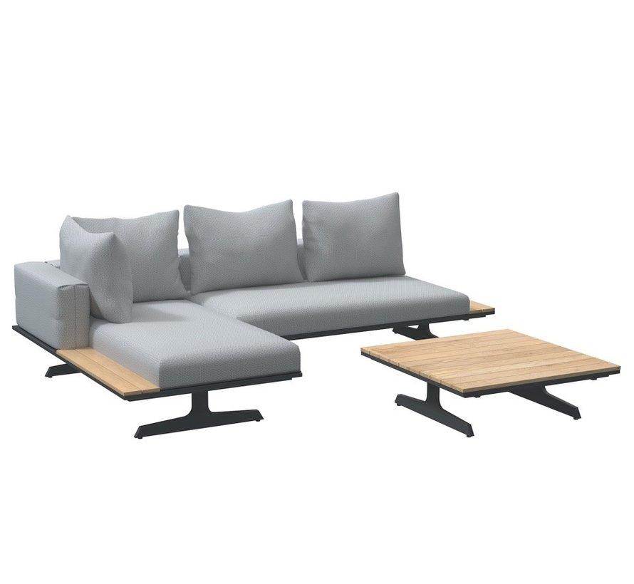 4 Seasons Outdoor Endless multi concept chaise longue loungeset 3-delig