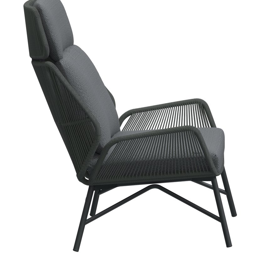 4 Seasons Outdoor Carthago lounge stoel platinum grijs