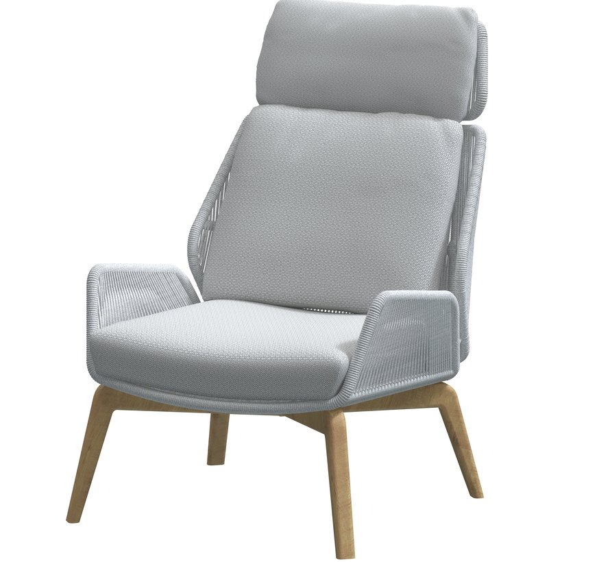 4 Seasons Outdoor Carthago teak lounge stoel lichtgrijs