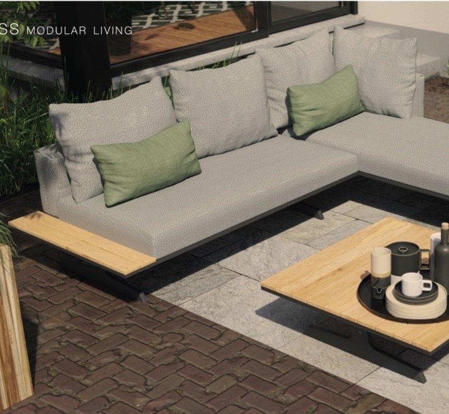4 Seasons Outdoor Endless multi concept salontafel teak 95x95x30 cm