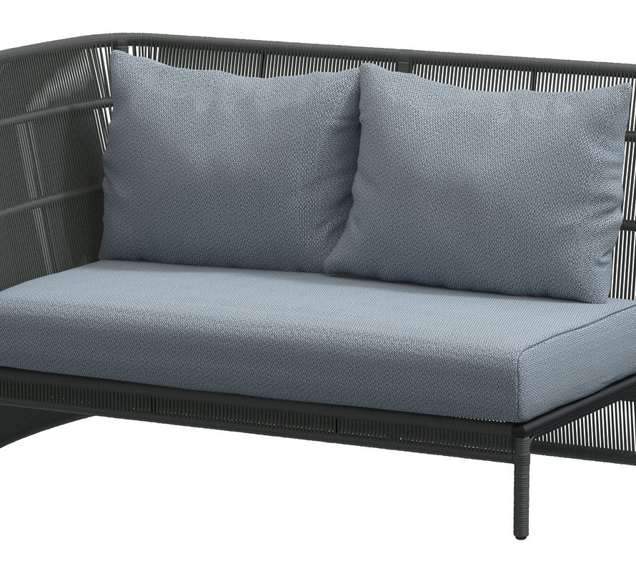 4 Seasons Outdoor Oriënt modulair hoek loungeset 5-delig Platinum