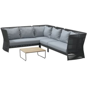 4 Seasons Outdoor 4 Seasons Outdoor Oriënt modulair hoek loungeset 5-delig Platinum