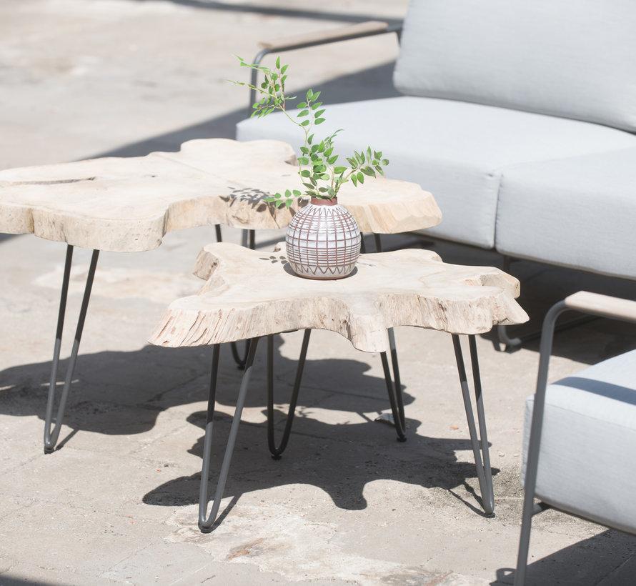 4 Seasons Outdoor Oriënt modulair hoek loungeset 6-delig Platinum