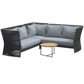 4 Seasons Outdoor 4 Seasons Outdoor Oriënt modulair hoek loungeset 4-delig Platinum