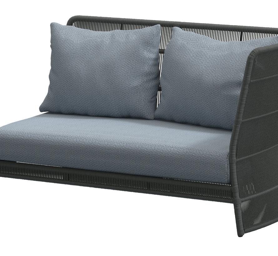 4 Seasons Outdoor Oriënt modulair hoek loungeset 4-delig Platinum