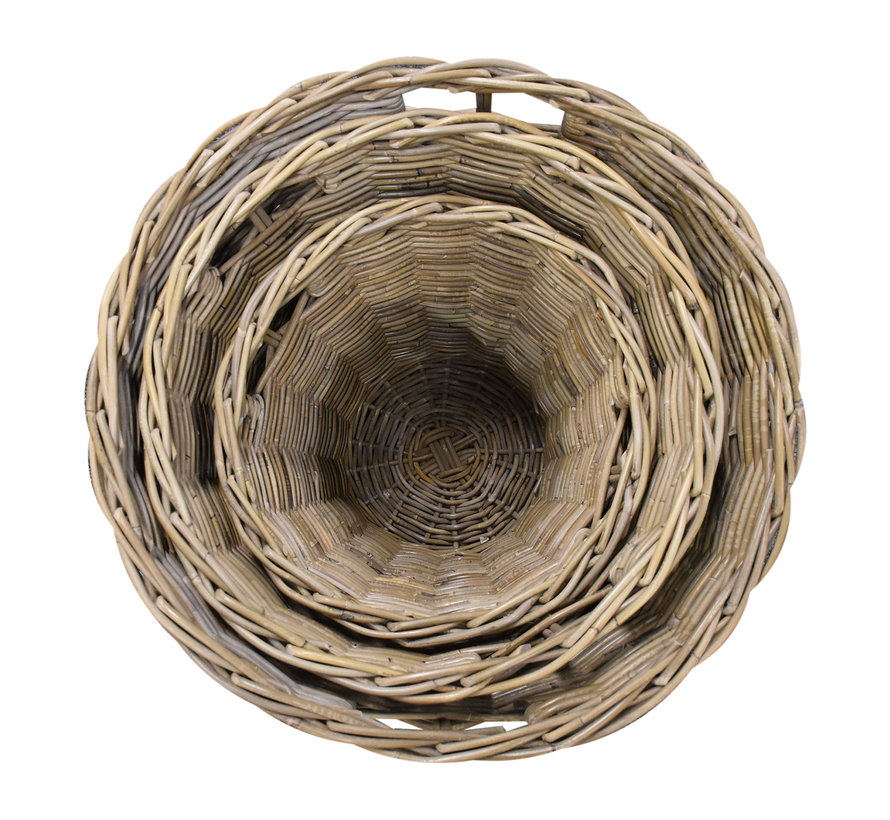 Cai mandenset 40x40xH45 cm, 50x50xH50 cm en 60x60xH55 cm