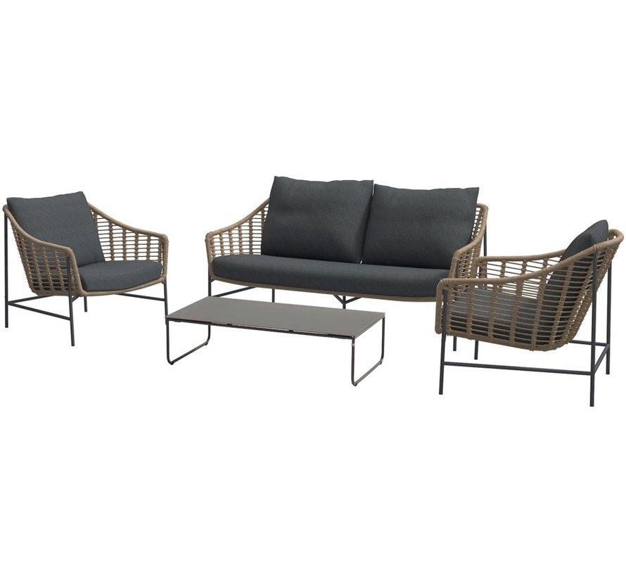 4 Seasons Outdoor Timor stoel bank loungeset 4-delig