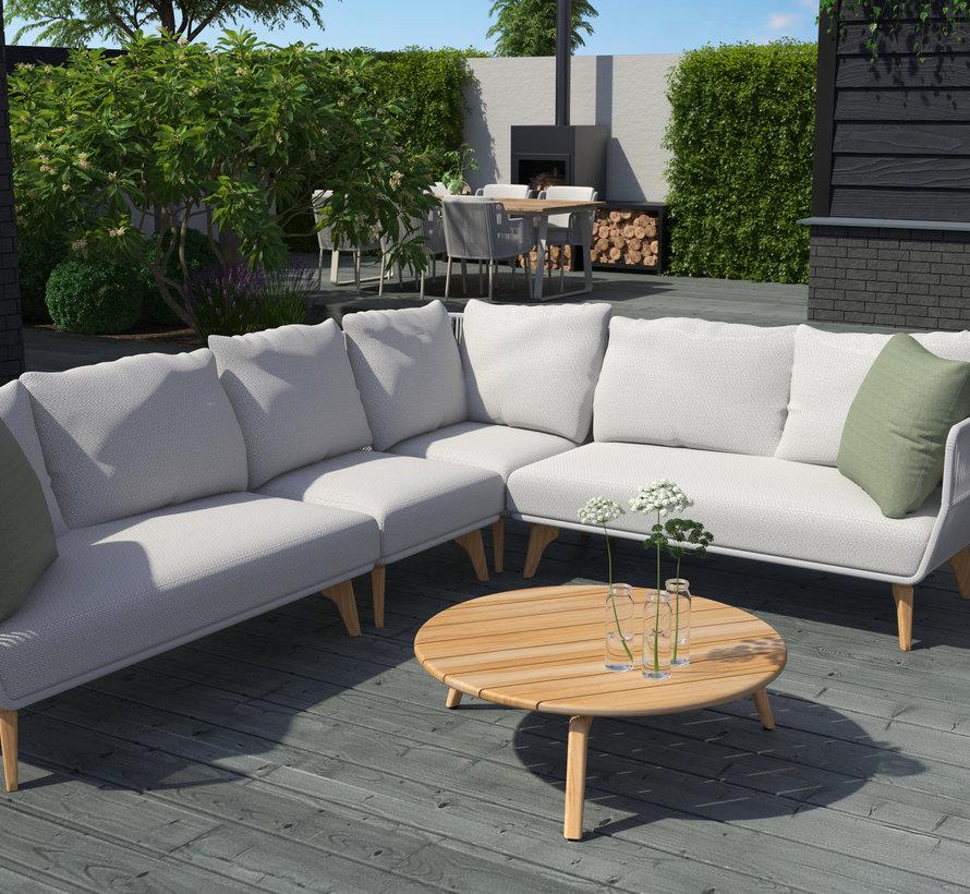 4 Seasons Outdoor Raphael modulair 2-zits element, armleuning links