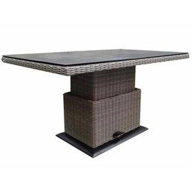AVH-Collectie Miami lounge-diningtafel 130x75xH47-71 cm in hoogte verstelbaar grijs