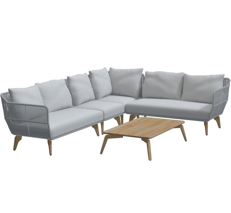 4 Seasons Outdoor Raphael modulair hoek loungeset 5-delig rope