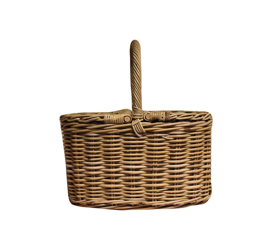 Eema picknickmand 50x30xH55 cmovaal