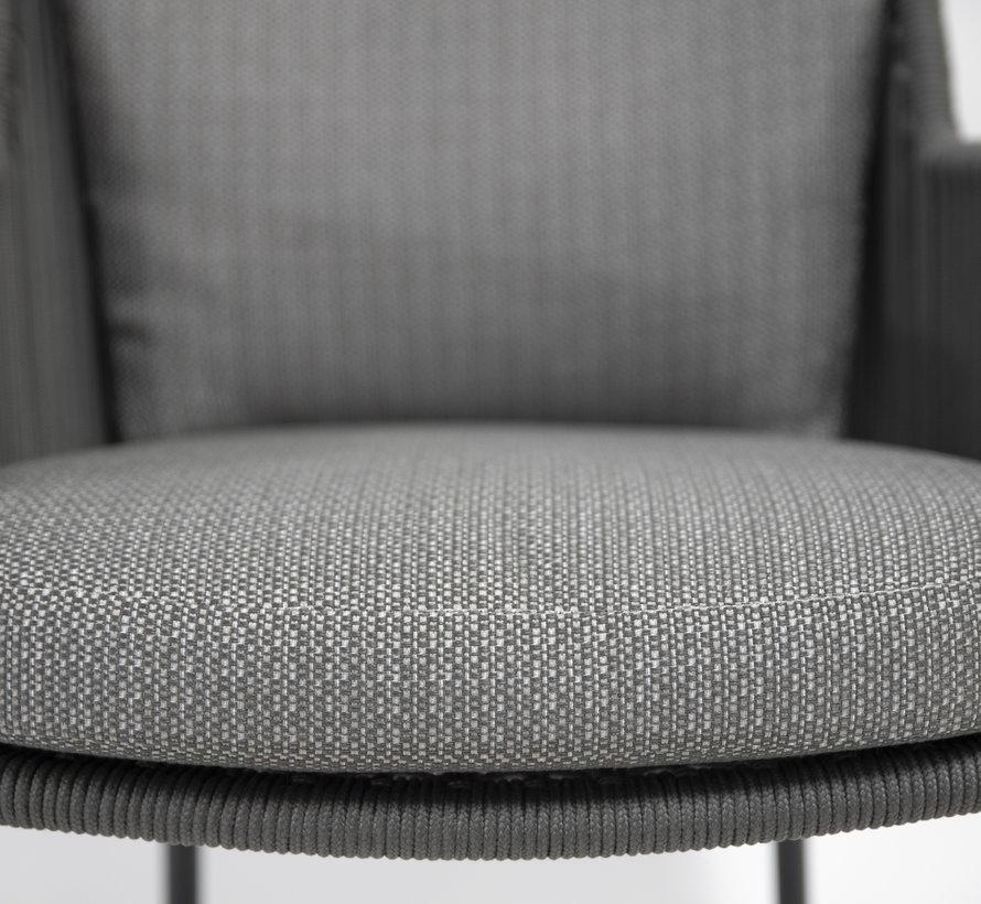 4 Seasons Outdoor Bernini dining stoel Platinum