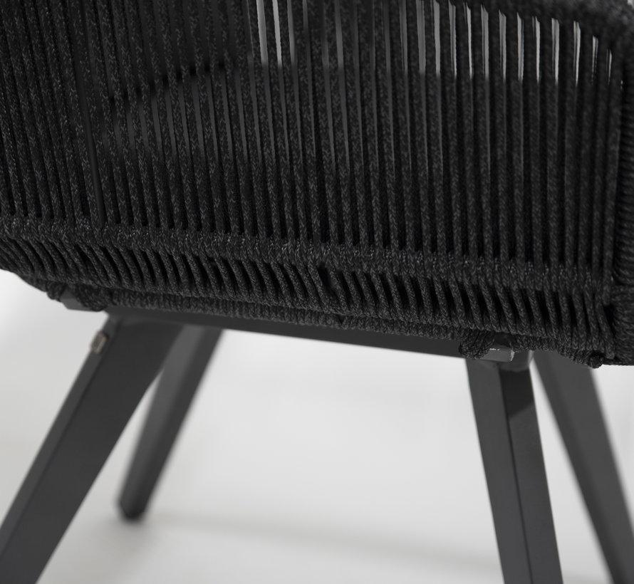 4 Seasons Outdoor Flores dining stoel met aluminium poten antraciet