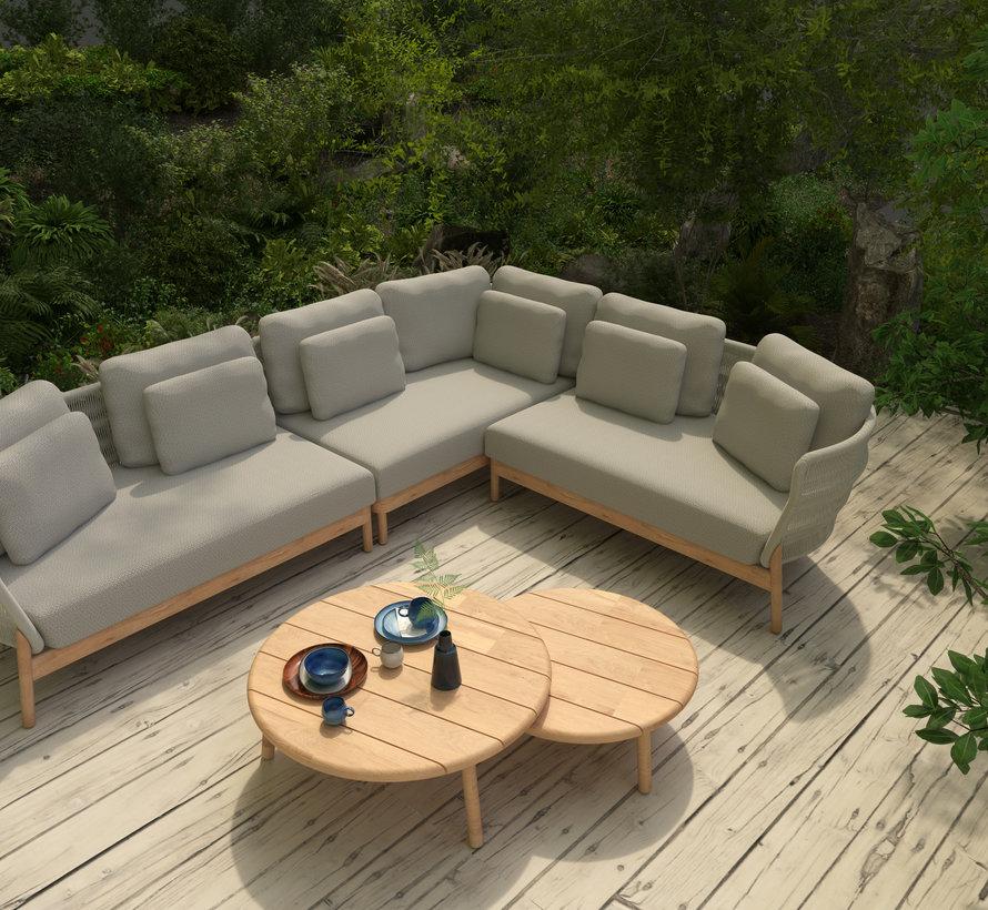 4 Seasons Outdoor Avalon hoek loungeset 5-delig teak links