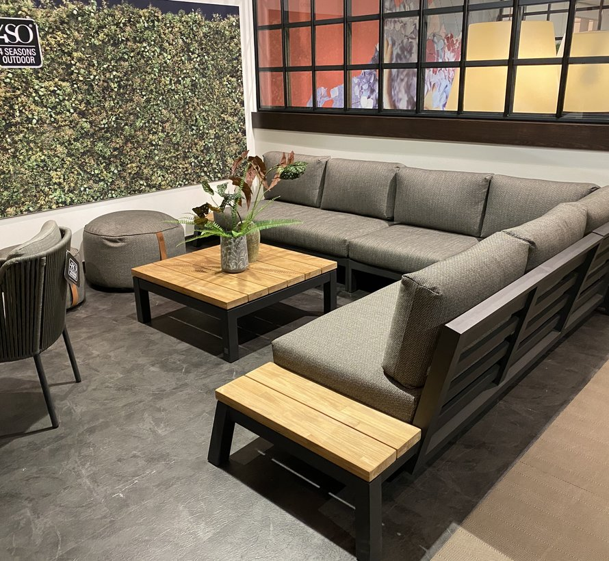 4 Seasons Outdoor Empire platform hoek loungeset 3 delig aluminium