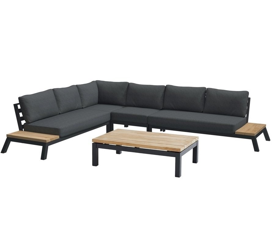 4 Seasons Outdoor Empire platform hoek loungeset 5 delig aluminium