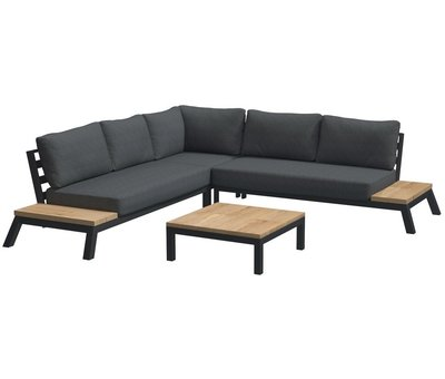4 Seasons Outdoor 4 Seasons Outdoor Empire platform hoek loungeset 4 delig aluminium
