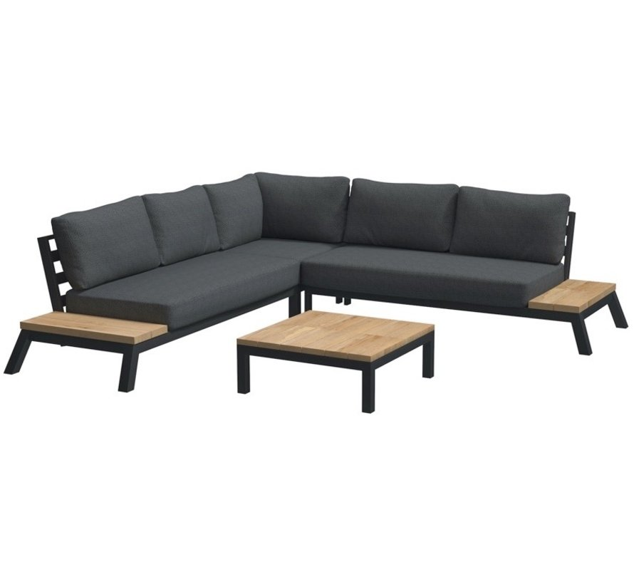 4 Seasons Outdoor Empire platform hoek loungeset 4 delig aluminium