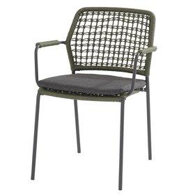 4 Seasons Outdoor Barista dining stoel groen stapelbaar Taste 4SO