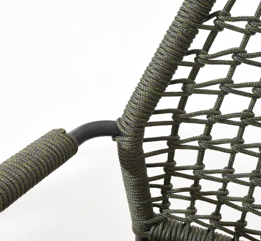 Barista dining stoel groen stapelbaar Taste 4SO