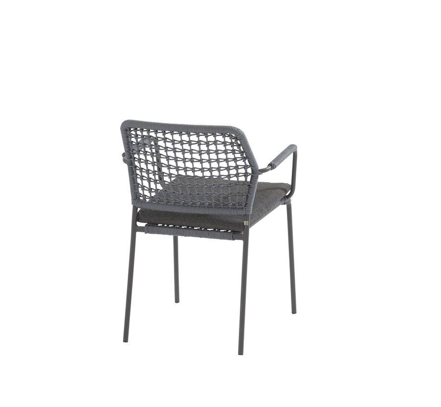Barista dining stoel blauw stapelbaar Taste 4SO