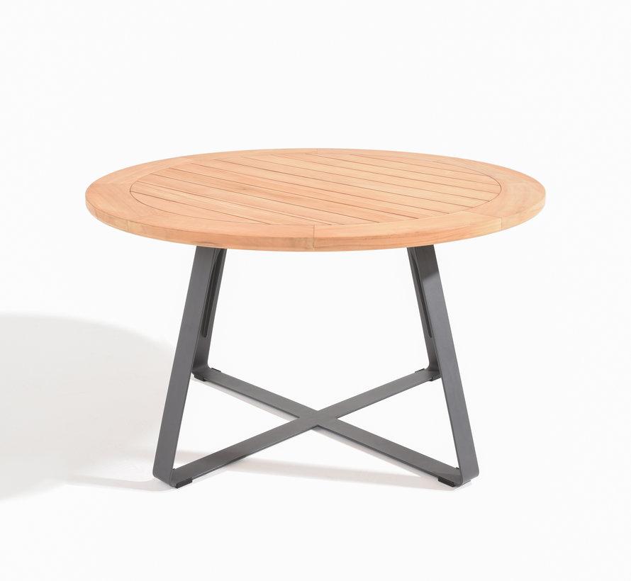 Basso dining tuintafel 130xH75 cm rond teak Taste 4SO
