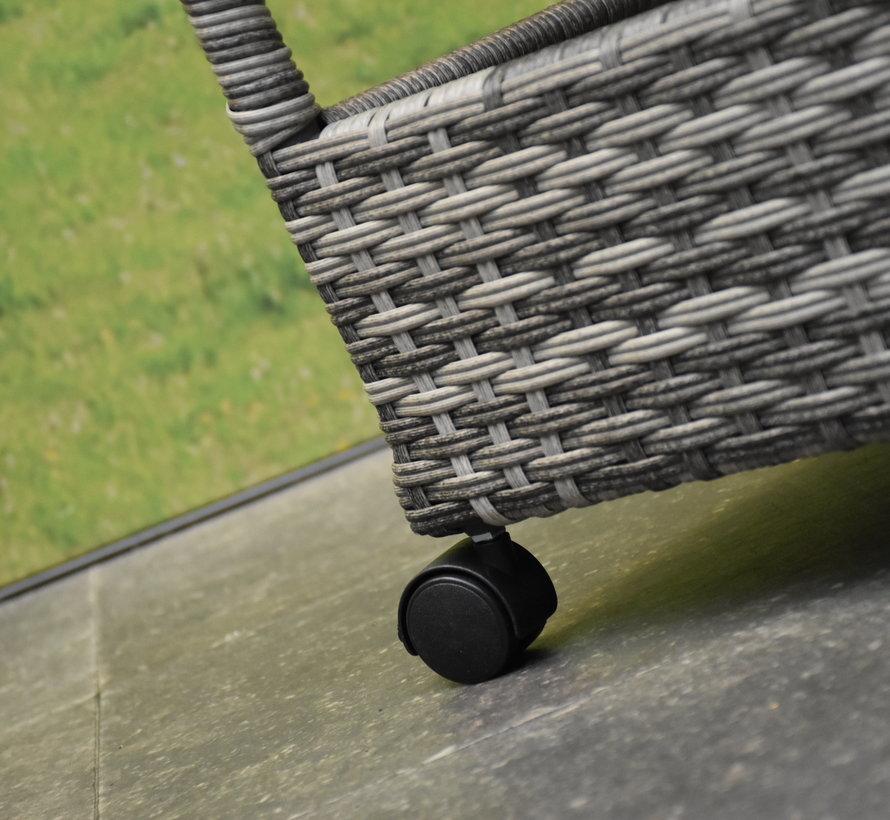 Jennifer lounge balkonset verstelbaar/draaibaar 3-delig antraciet