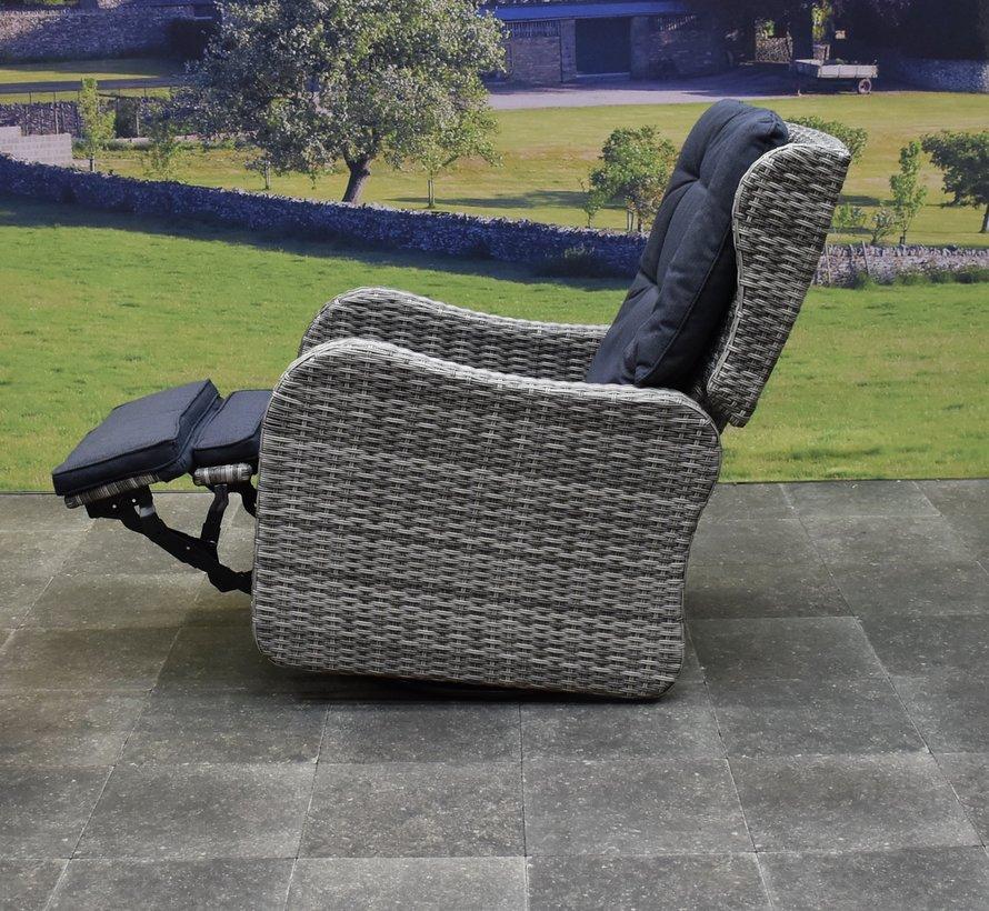 Jennifer lounge schommelstoel verstelbaar antraciet