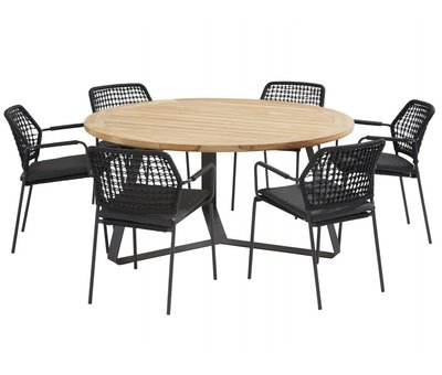 Taste 4SO Basso Barista dining tuinset 160xH75cm 7 delig antraciet Taste 4SO