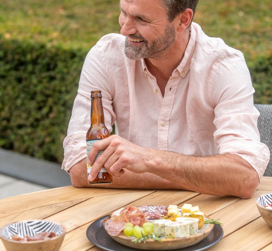 Basso Barista dining tuinset 160xH75cm 7 delig blauw Taste 4SO