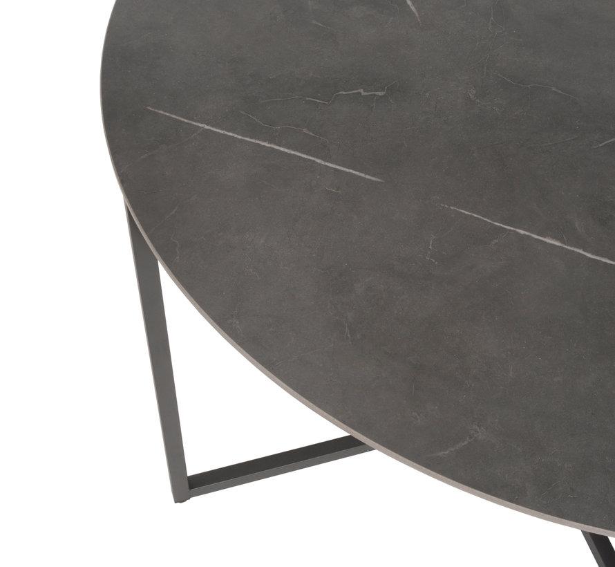 Quatro Barista dining tuinset 120xH75 cm rond antraciet 5-delig Taste 4SO