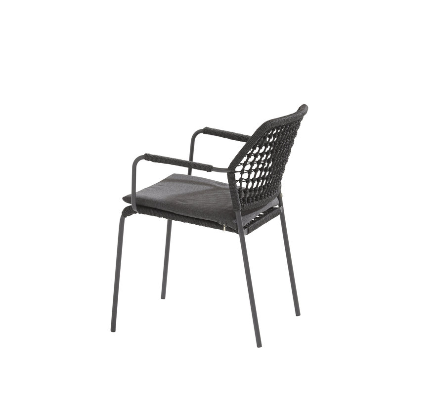 Derby Barista dining tuinset 130 cm rond antraciet 5 delig