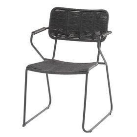 Taste 4SO Swing stapelbare dining stoel antraciet rope Taste 4SO