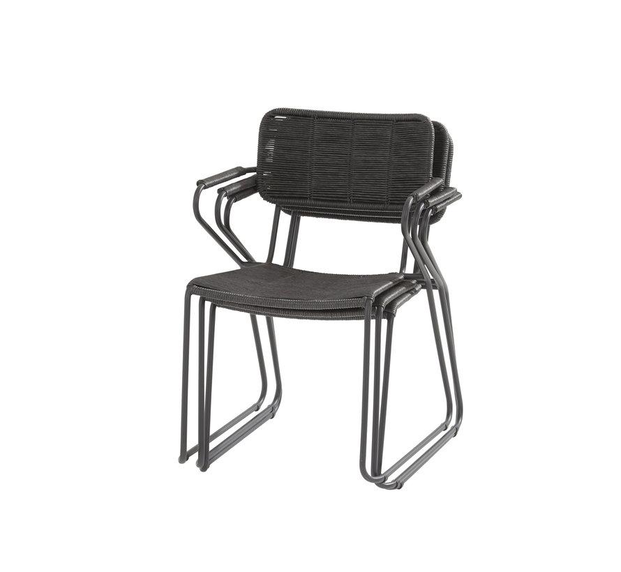 Swing stapelbare dining stoel antraciet rope Taste 4SO