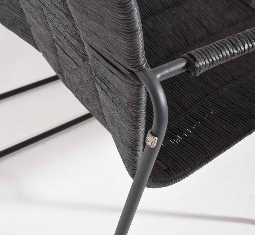 Palma stapelbare dining stoel antraciet Taste 4SO