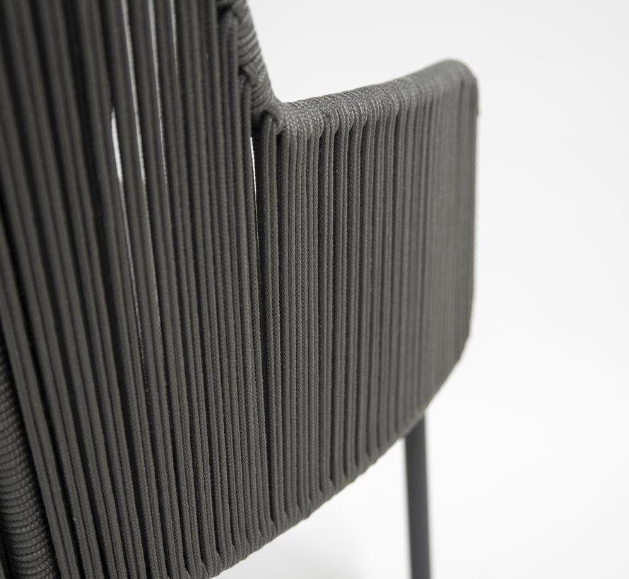4 Seasons Outdoor Bernini Belair dining tuinset 240x100xH75 cm 7 delig Platinum