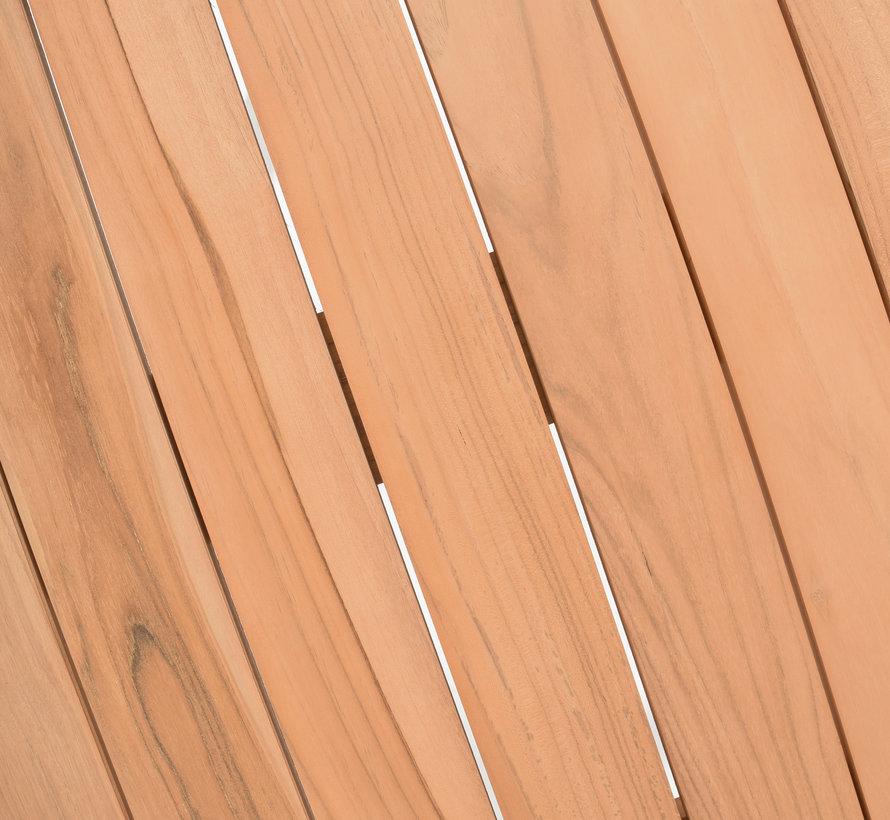 4 Seasons Outdoor Bernini Basso dining tuinset 300x100xH75 cm 9 delig Platinum