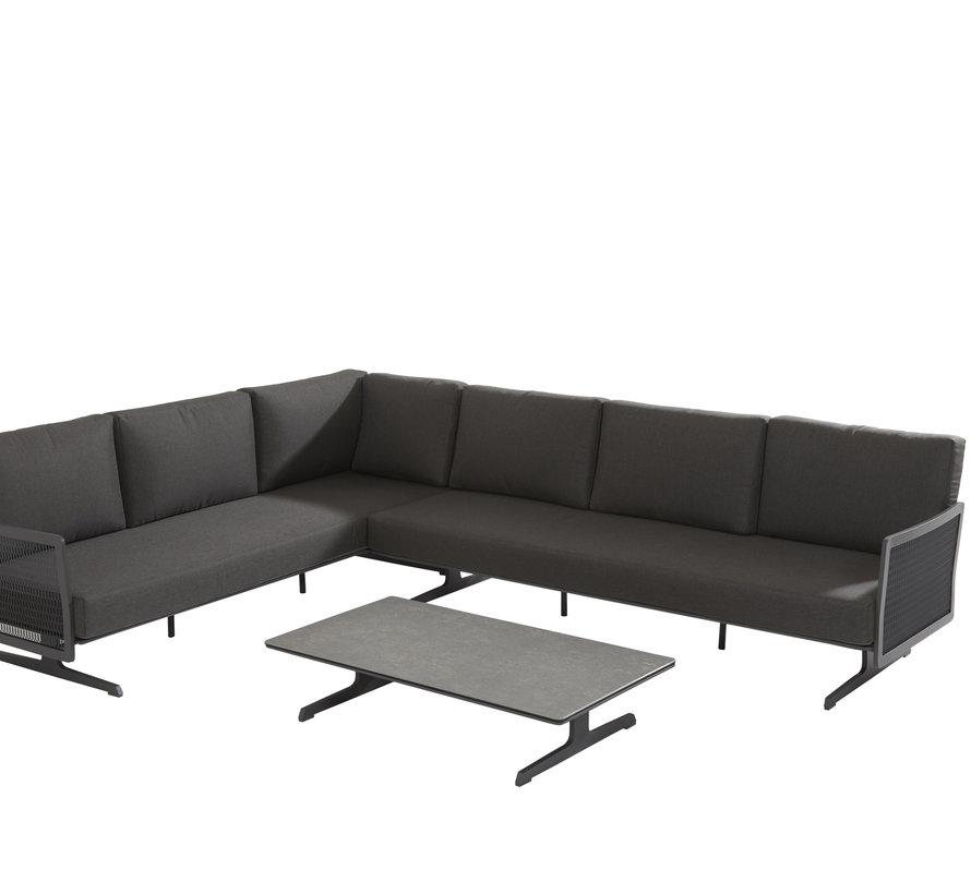 Sunray hoek loungeset alu mesh 3 delig Taste 4SO