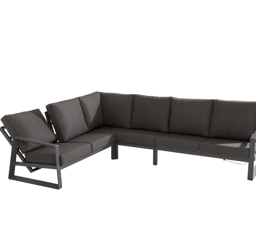 Dazzling hoek loungeset 5 delig antraciet aluminium Taste 4SO