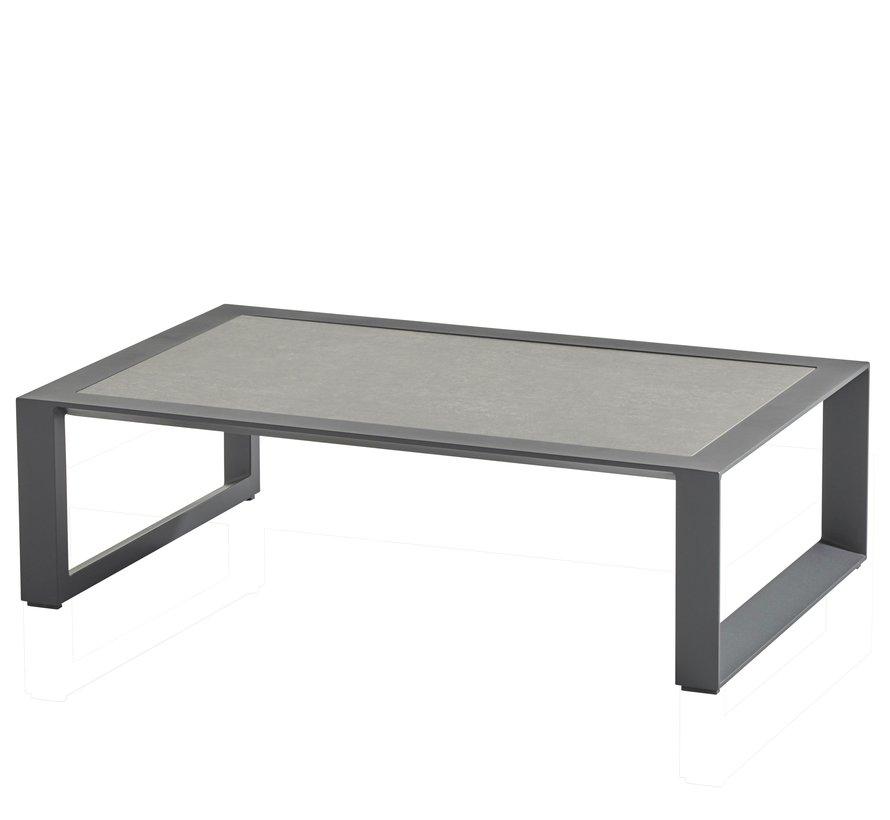 Dazzling hoek loungeset 6 delig antraciet aluminium Taste 4SO