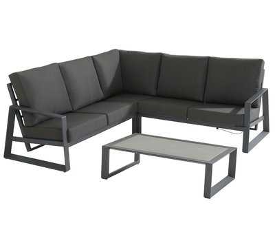 Taste 4SO Dazzling hoek loungeset 4 delig aluminium Taste 4SO
