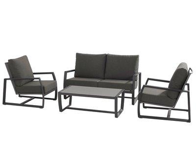 Taste 4SO New Mauritius stoel-bank loungeset 4-delig donker grijs aluminium Taste 4SO