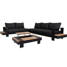 AVH-Collectie Colombia hoek loungeset 4 delig antraciet aluminium