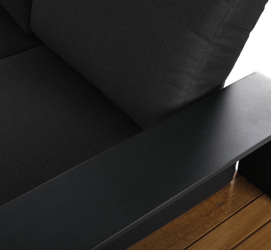 Colombia hoek loungeset 4 delig antraciet aluminium