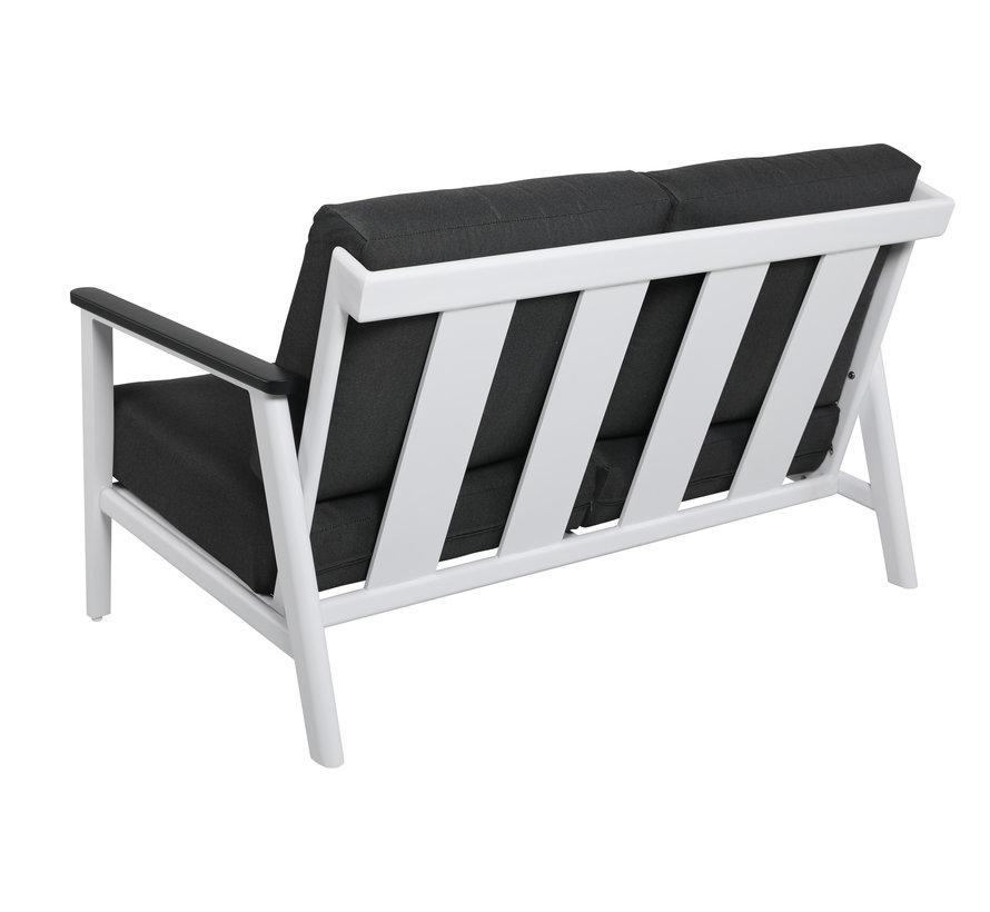 Albina stoel bank loungeset 4 delig aluminium wit