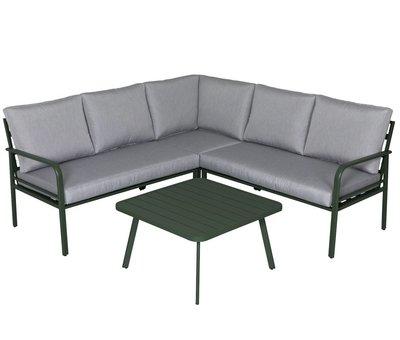 AVH-Collectie Cottica hoek loungeset 4 delig groen aluminium